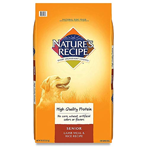 Nature's Recipe Senior Dry Dog Food, Lamb Meal & Rice Recipe, 30 Pounds