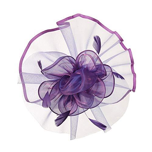Subobo dames cilinderhoed, vrouwen fascinators hoed haarspeld veer bruiloft headware bruiloft jaren 20 hoofdpiece bruidshoed voor vrouwen geschikt charming hoofdband