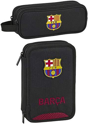 rainbowFUN.de FC Barcelona - Estuche escolar de 34 piezas y estuche, diseño de fútbol
