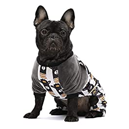 Fitwarm Lama Pet Clothes for Dog Pajamas Cat Onesies Lightweight Velvet Black
