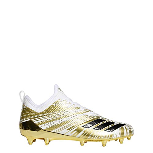 adidas Men's Adizero 5-Star 7.0 Metallic Football Cleats (11.5, Gold Metallic/Core Black/White (CQ0345))