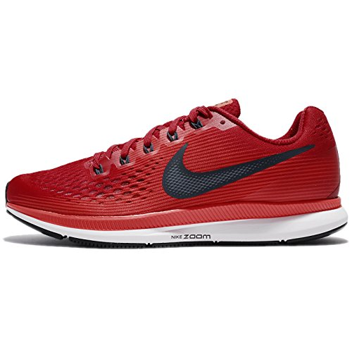Nike Air Zoom Pegasus 34 880555-600 Gym Red/Armory Navy Men's Running Shoes (10.5)
