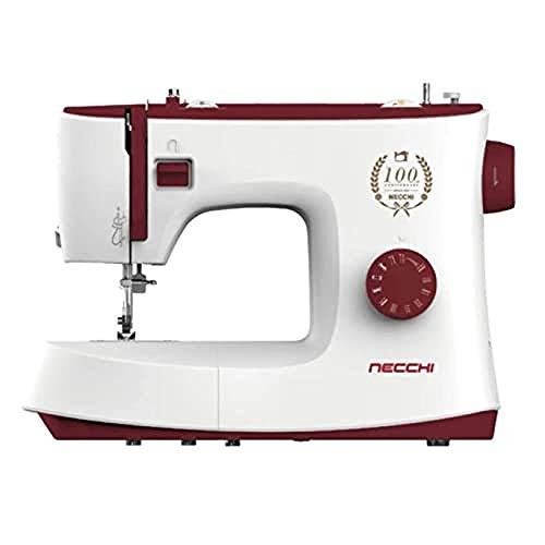 Necchi K417A Macchina per Cucire, Interno in pressofusione in Alluminio, scocca in ABS, Red, Regular