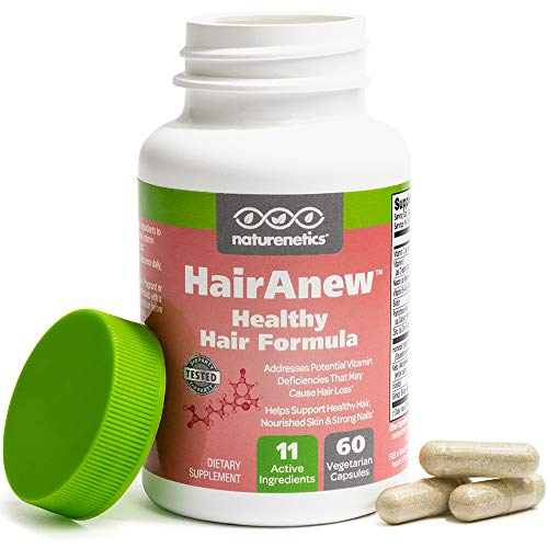 HairAnew (Unique Hair Growth Vitamins with Biotin) - Tested - for Hair, Skin & Nails - Women & Men -...