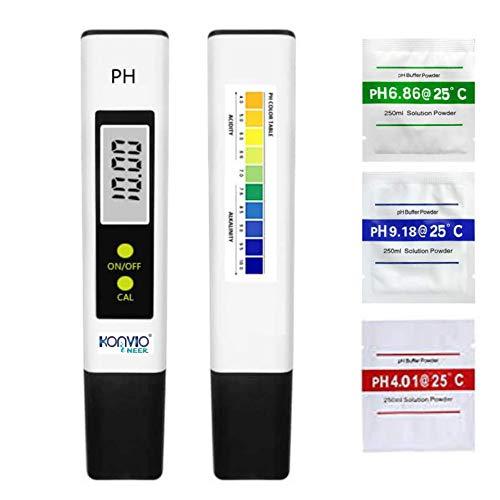 Konvio Neer pH Test Meter ± 0.1pH High Accuracy with 0.00-14.00ph Measure Range for Drinking Water, Hydroponics, Aquariums, Swimming Pools. (Digital pH Meter)