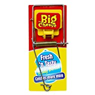 The Big Cheese Fresh Baited Mouse Trap (Traditional Baited Rodent Pest Trap with Powerful Spring Mechanism, Suitable for Indoor and Outdoor Use)
