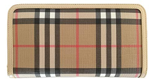 BURBERRY Portefeuille femme zip around ELMORE 80217291 Vintage Check
