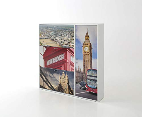 Kit Closet Zapatero Londres 3 TRAMPONES 1 Puerta Decorados, Unico