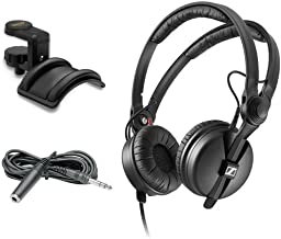 Sennheiser HD 25 PLUS Monitor Headphones with Auray Headphone Holder & 10' Extension Cable