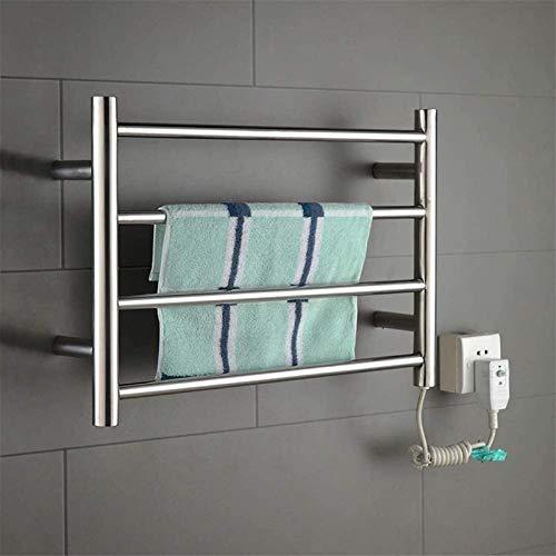 YYHAD Toallero radiador radiador toallero moderno toallero, calentador de toallas eléctrico, espejo de acero inoxidable, aspecto hermoso y simple, muy adecuado para baño, cocina