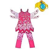 Lito Angels Disfraz de Mia and Me para niñas con alas, pantalones y pulsera leggings Vestido de Hadas de Halloween de fiesta de cumpleaños Talla 8-9 años Mia
