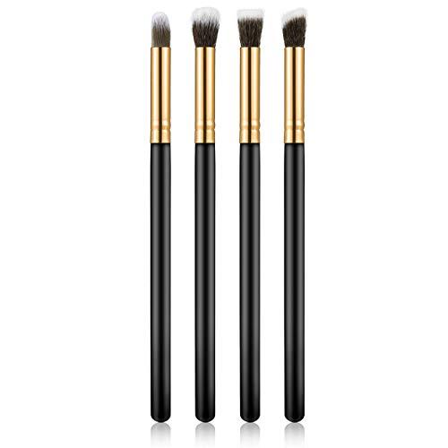 4 pcs/ensemble Professionnel Brosses Pour Les Yeux Ensemble Fard À Paupières Fondation Mascara Mélange Crayon Brosse Outil De Maquillage Cosmétique Noir Populaire Vente