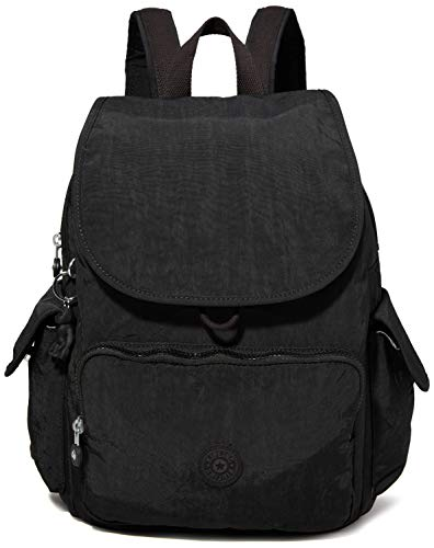 Kipling City Pack Medium Backpack Mochila, 18.5x32x37 cm (LxWxH), Color Negro