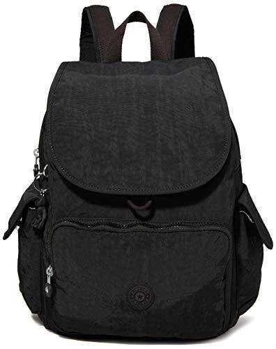 Kipling City Pack, Backpacks Donna, Nero Noir, 18.5x32x37 cm