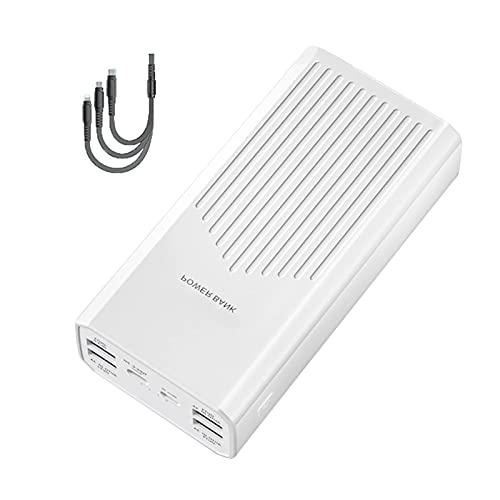 Tcbz Power Bank 40000mAh, Cargador portátil [20W PD QC 3.0 6 Puertos de Carga rápida] Powerbank USB C Power Pack Paquete de baterías externas Power Banks con Cable 3 en 1 para tabletas y teléfono