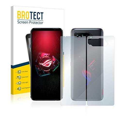 BROTECT Entspiegelungs-Panzerglasfolie kompatibel mit Asus ROG Phone 5 Pro (Vorder + Rückseite) - Anti-Reflex Panzerglas Schutz-Folie Matt