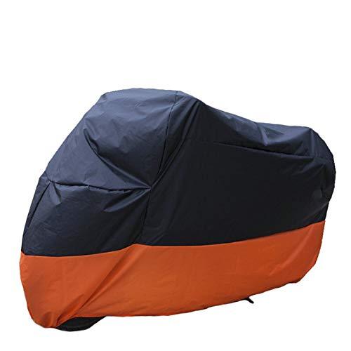 Cubierta de Motocicleta Funda de Moto al Aire Libre Impermeable para Moto Scooter Motorbike Street Deporte Bicicletas Cubierta de protección Protectora (Color : Orange, Size : L 2200x950x1100mm)