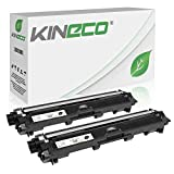 Kineco 2 Toner kompatibel für Brother TN-241 TN241 für Brother MFC-9142CDN, Brother DCP-9022CDW, MFC-9342CDW, MFC-9332CDW, HL-3150CDW, HL-3170CDW - TN-241BK - Schwarz je 2.500 Seiten