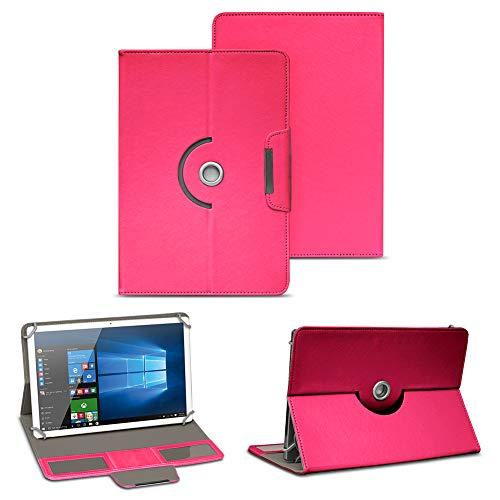 NAUC Tablet Tasche für Blaupunkt Atlantis A10.303 Ständerfunktion Hülle Schutztasche Stand Tasche Etui Cover Universal 10.1 Zoll Case Schutzhülle, Farben:Pink