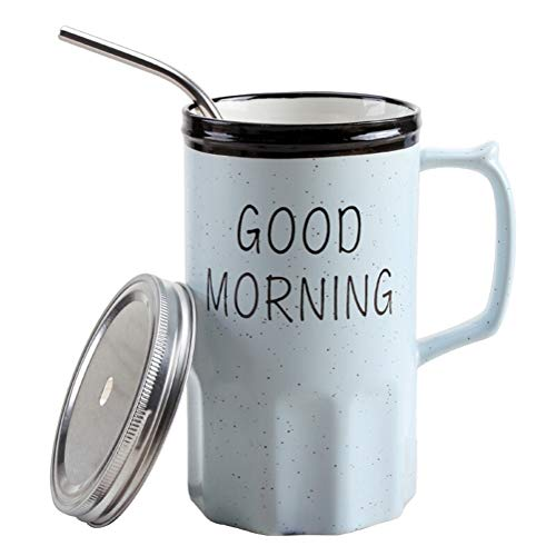 FANGQIAO Winkelbeker met stro, Keramische beker, Mok, met deksel cup-4.21 A