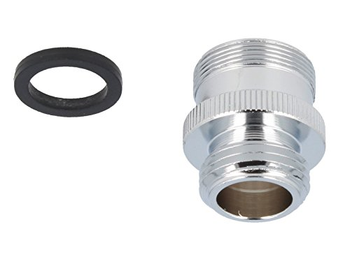 tecuro Mischdüse - Armaturen Adapter M24 x1 AG auf 1/2 Zoll Außengewinde, chrom