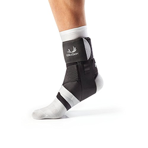 BioSkin Trilok Ankle Brace - Foot and Ankle Support for Ankle Sprains, Plantar Fasciitis, PTTD, Tendonitis and Active Ankle Stability - Lightweight, Hypo-Allergenic (Medium)