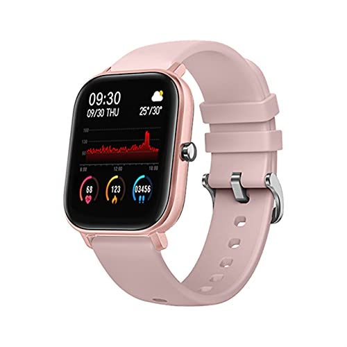 1.4 Pulgadas P8 Smart Watch Men Touch Full Touch Fitness Tracker Presión Arterial Mujer Deportes SmartWatch GTS para Xiaomi Relogio (Color : All Pink)