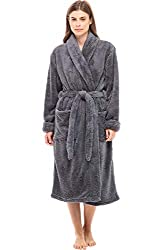 commercial Women's luxurious fleece robes by Alexander del Rossa, warm, hairy robes, small to medium steel gray … most luxurious bathrobes