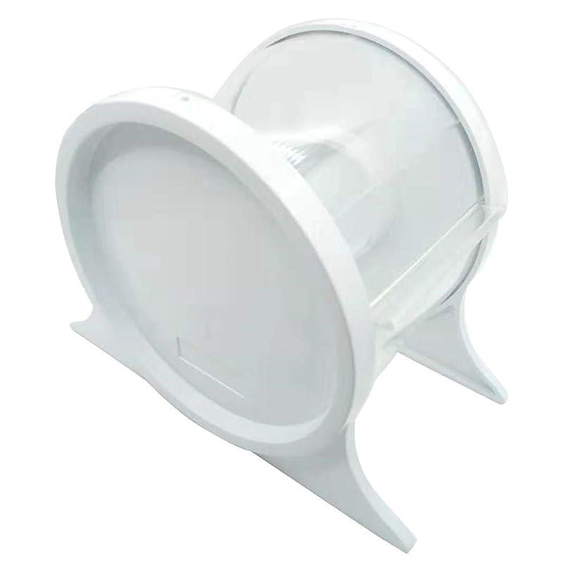 食用完全に乾く部分的にHealifty 1ピース使い捨て歯科バリアフィルムディスペンサー保護スタンドホルダーシェルフ歯科ツール(ホワイト)