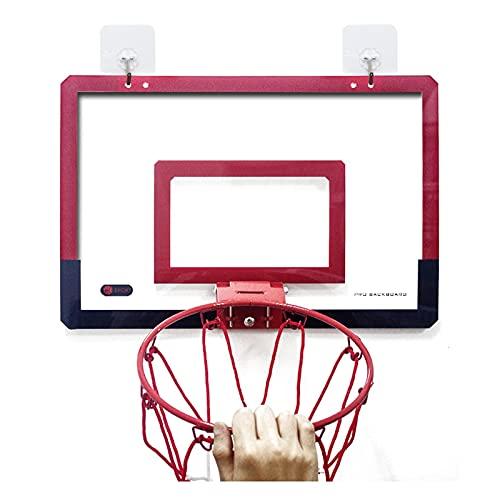 Basketball Hoop Children 's Mini Basketball Hoop and Backboard Set, Dunk Practice Toys, El Tipo Colgante para Interiores y Exteriores es fácil de Instalar (Tamaño: 45.5x29.5cm)