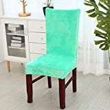 PCSACDF Fabric Chair Cover elastische Sitzbezüge Waschbar Stretch Schonbezug Büro für Bankett...