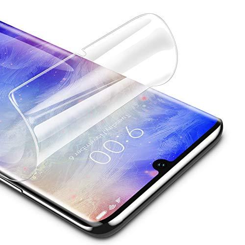 RIWNNI [3 Stück Schutzfolie für Xiaomi Mi Note 10/Note 10 Pro/Note 10 Lite, Ultra Dünn Weiche TPU Bildschirmschutzfolie (Nicht Panzerglas) HD Klar Bildschirmschutz Folie Full Screen - Transparent