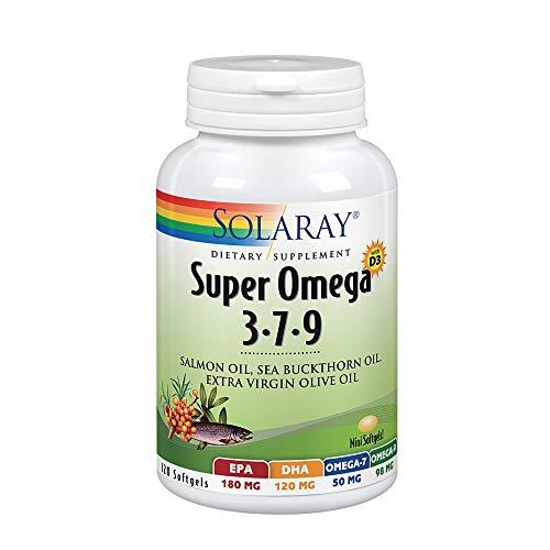Solaray Super Omega 3-7-9 | Aceite de Salmón, Aceite de Espino Amarillo,...