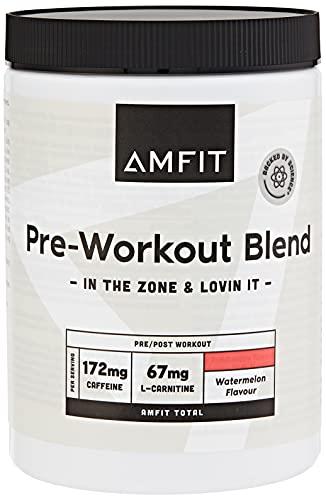 Marca Amazon - Amfit Nutrition Pre-entreno, Sabor Sandía, 360g