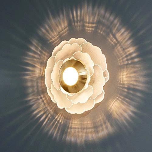 QJUZO Lámpara de Pared LED 10W Aplique Pared Interior Moderna Ronda Forma de Flor Para Interior Para Lámpara de Salón, Dormitorio, Escalera, Pasillo, Iluminación de Pared