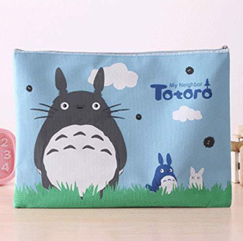 folder1Pcs/set Cute 32 X 23cm My Neighbor Totoro Oxford A4 File Folder Document Filing Bag Stationery Bag,1