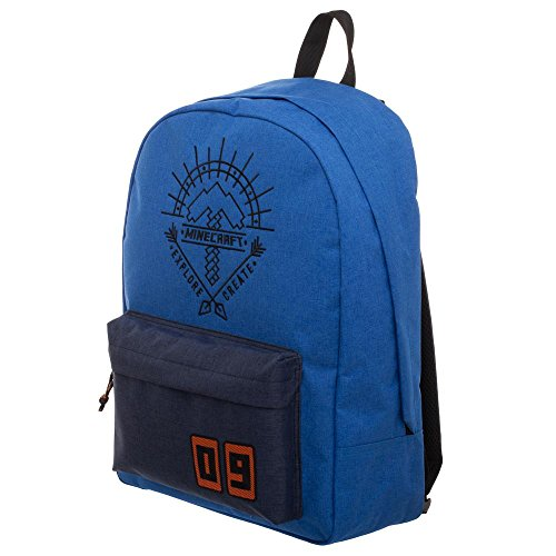 Blue Minecraft Backpack - Minecraft Explore Create Bag