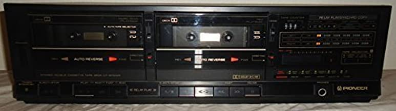 Pioneer Stereo Dual Cassette Tape Deck CT-1280WR – Auto Reverse – Japan 1986