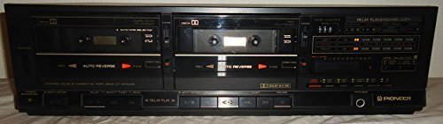 Pioneer Stereo Dual Cassette Tape Deck CT-1280WR - Auto Reverse - Japan 1986