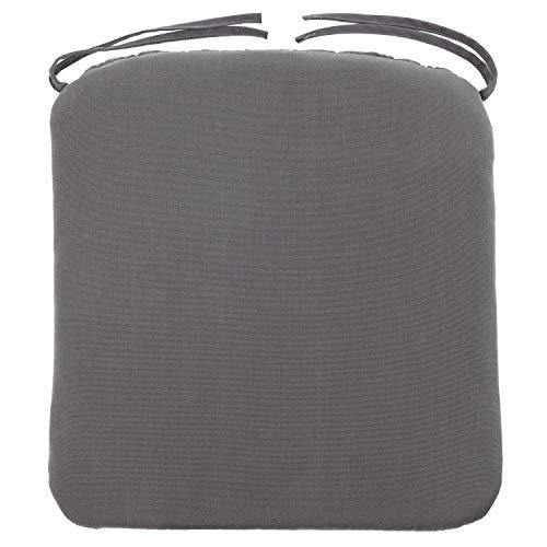 Kopu® Zitkussen Prisma Grey | Zitkussen voor tuinstoelen | Dralon | Prisma Grey zitkussen 50 x 50 cm | Stevig schuim voor extra comfort | Kussen met teflonlaag