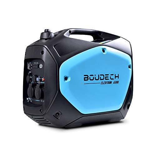 BOUDECH - Elektron 2200 - Generador inversor Digital de 2KW/4HP con Motor OHV de 4 Tiempos, Grupo generador de 2200W de Ahorro de energía