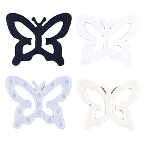 Angoter 1 Satz BH-Clips Bra Schnallen Strap Halter Unterwäsche Invisible Bra Buckle Schatten Schmetterling Plum-Shaped Für Frauen