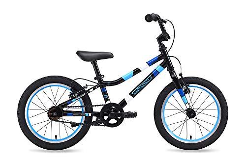 """Guardian Bike Company Ethos Safer Patented SureStop Brake System 16"""" Kids Bike, Black/Blue"""