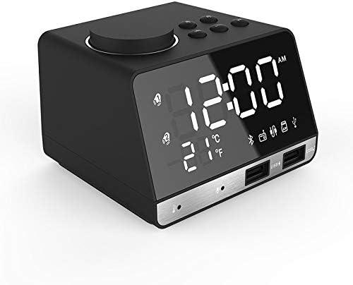 Baby Fan LED Digital Dual Bluetooth Clock Woo Very popular Max 46% OFF Mirror Alarm