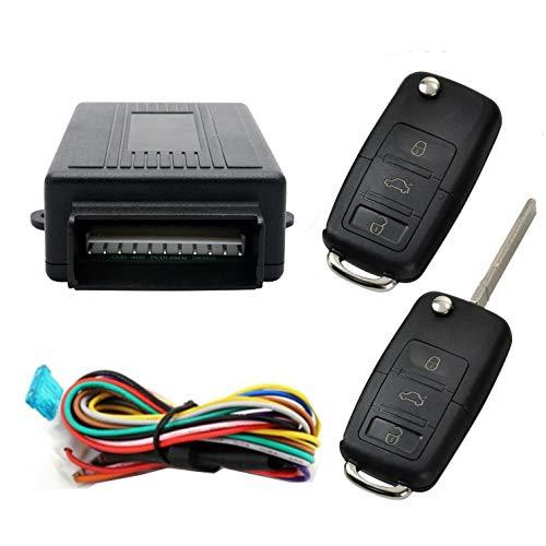 Style13 - Kit de cerradura universal para puerta de coche con caja de Contorl + 2 mandos a distancia...