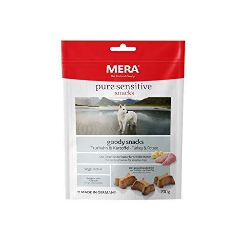 MERA pure sensitive goody snack Truthahn & Kartoffel Hundeleckerlies – Hundekekse als Snack für nahrungssensible Hunde