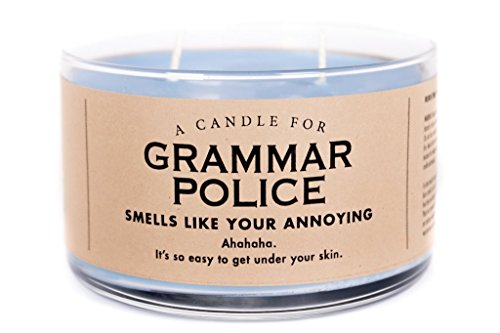 Whiskey River Candle (Grammar Police)