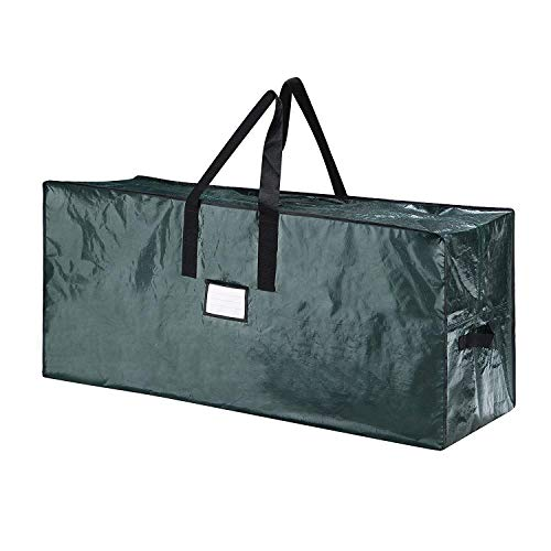 Large Christmas Tree Storage Bag - Fits Up to 9 ft Tall Holiday Artificial Disassembled Trees with Durable Reinforced Handles & Dual Zipper - Waterproof Material Protects from Dust, Moisture & Insect