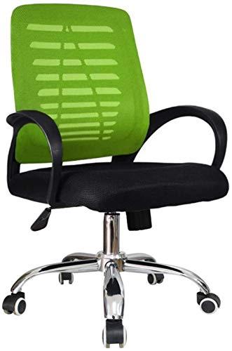 Sillas de Oficina Silla de Oficina ergonómica Malla Acolchada Asiento cómodo Oficina Oficina Trabajo Equipo de Escritorio de Juego (Color : Green)