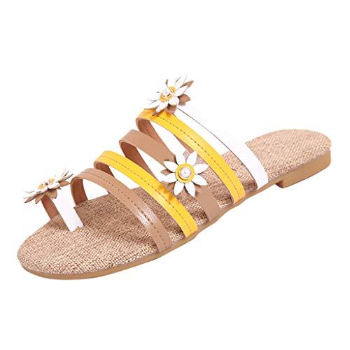 Clogs Hausschuhe Badeschuhe Zehentrenner Pantoletten Sandalen Trekking Sandalen Bade Sandalen Flops Offroad Sneaker Erholungsschuhe Pantoffeln (35,Khaki)